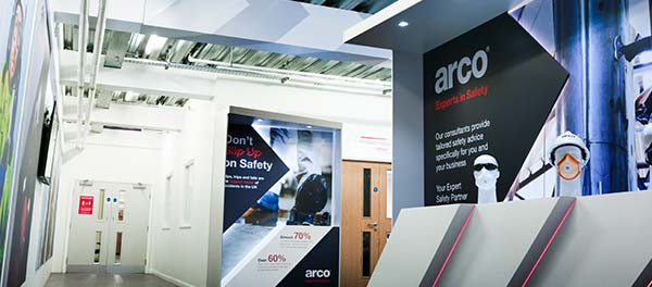 Inside entrance to the Arco Product Assurance Laboratory
